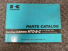 Kawasaki NTO6C Cummins Engine on 80T 85ZI Wheel Loader Parts Catalog Manual Book