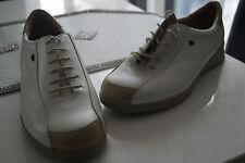 FINN COMFORT Damen Schuhe Schnürschuhe mit Einlagen Gr.6 / 39,5 creme weiss NEU