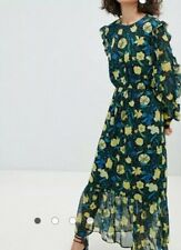 98# Selected Floral Midaxi Dress With Ruffle Details size 38 RRP£95