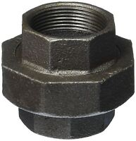 """(LOT OF 10) 1/2"""" BLACK MALLEABLE IRON PIPE UNION PLUMBING FITTING"""