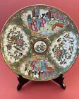 """Antique Chinese Famille Rose Medallion Plate 9 5/8"""" Very Good Condition"""
