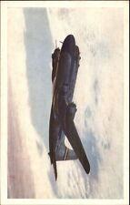 United DC-6 Mainliner Airplane in Flight Postcard myn