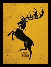 Game of Thrones casata Baratheon Sigil 30 x 40cm Con cornice Poster Stampa