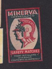 Ancienne  étiquette  allumettes Finlande BN80088 Minerva Minerve