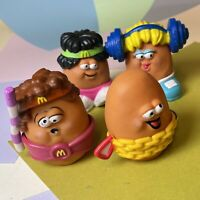 Vintage McDonalds Potato Heads Lot Of Four, With Accessories Retro 1991