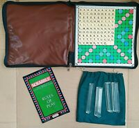 Vintage Travel Scrabble Spears Games Padded Zip Up Case 100% Complete         #2