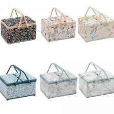 Hobbygift Twin Lid Large Sewing Basket Craft Sewing Box