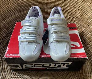 Scott Women's White Road Comp Lady Bike Shoes Cycling Trainers UK 6.5 EU 40 NEW