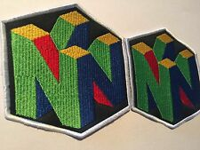 LOT of (2) N64 NINTENDO 64 BLACK LARGE PATCH 4 x 4 Inches embroidered RARE!