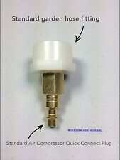 Winterize Irrigation Sprinkler Air Compressor Garden Hose Faucet Adapter