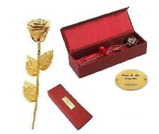 Goldene Rose + persönliche GRAVUR Romantisches Valentinstag Geburtstag Geschenk
