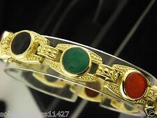 Judith Ripka Multi Gemstones Intaglio 18k Yellow Gold Bracelet Very Rare.