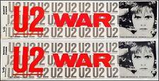 U2 WAR Lot Of 2 80's Bumper Stickers BonoThe Edge