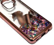 For Samsung Galaxy S9+ PLUS - Rose Gold Unicorn Pink Glitter Liquid Case Cover