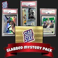 🚨NEW- SLABSTAX Mystery Hot Packs PSA 10 9 Herbert Brady Mahomes Tua Burrow RC