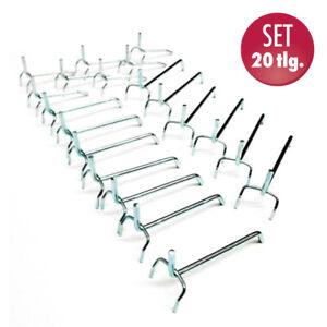 Werkzeughalter f/ür Lochwand Werkzeugwand Halterung 40 tlg Haken Set Werkstatt Werkzeuglochwand Lagersystem