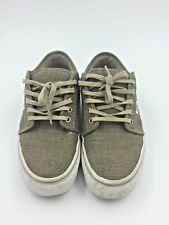 Vans Off The Wall Men's Gray Brown Canvas Skate Board Shoes TB4R Size 7.5