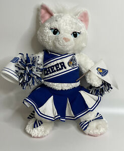 "Build A Bear Disney Aristocats Marie 19"" White Kitten W/Full Cheerleader Outfit"