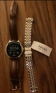 Fossil Gen 5E 42mm Case with Link Band Smart Watch for Women - Two-Tone...