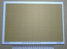 OO/HO gauge (1:76 scale) yellow roof tile paper - A4 sheet
