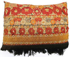 Coussin ancien tapisserie cushion pillow Europeen European Hongrois Soie 1900