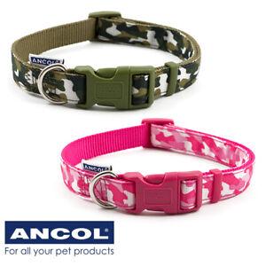 Ancol Camoflouge Dog Collar green small 20-30cm SALE