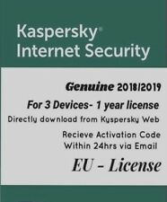Kaspersky Internet Security 2018/2019 latest release - 3 Devices, 1 Year License