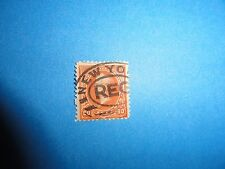 U S Stamps #229 Perry Orange Used with New York Registry Cancel