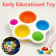 Fidget Simple Dimple Silicone Flipping Board Kids Developmental Educational Toys