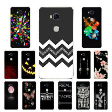 Soft TPU Silicone Case For Huawei Honor 5X Protective Back Cover Skins Black