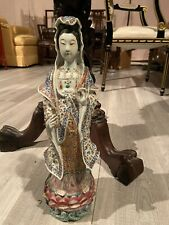 Chinese Famille Rose Guang Qin Figureinscrbed 邓�昌会馆造