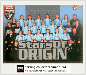 2000 Select NRL Trading Cards Stars Of Origin S1 NSW Team Card