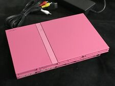 PS2 Konsole Slim Rosa Pink Sony Playstation 2 + Alle Kabel Voll Funktionsfähig