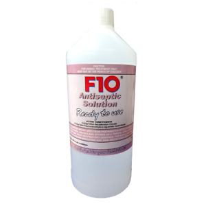F10 Antiseptic Solution 1 Litre RTU with trigger Pet Reptile Bird Wound Cleaner
