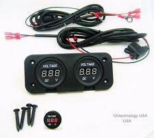 Two Battery Voltmeter Monitor Marine Boat House Banks Starting With Cables