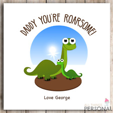 Personalised Fathers Day Card Dad Daddy Father's Day Card Cute Dinosaur Roarsome