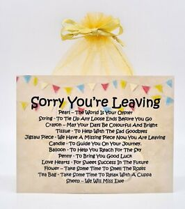 Sorry You're Leaving Survival Kit - A Unique Fun Novelty Gift & Keepsake !