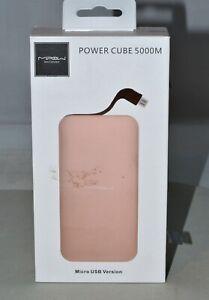 MiPow Power Cube 5000mAh Micro USB Version Backup Battery - PINK