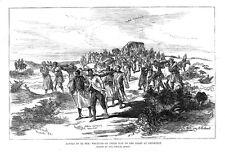 Sudán herido de la Batalla de el Teb en ruta a trinkitat antigua de impresión de 1884