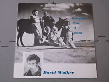 """David Walker:  Everyone was a baby  1988  private press 7""""   Near Mint Unplayed"""