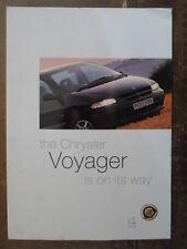 CHRYSLER VOYAGER orig 1996 UK Mkt Preview Sales Brochure - inc Grand Voyager