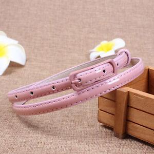 Womens Leather Dress Belt Pin Buckle Narrow Thin Skinny Waist Waistband Strap