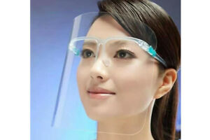10 x Full Face Visor Protection Mask PPE Clear Plastic UK Transparent with Glass