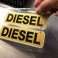 2X DIESEL Warning Reminder Sticker Vinyl Car Fuel Tank Decal Decoration 10.6x3cm