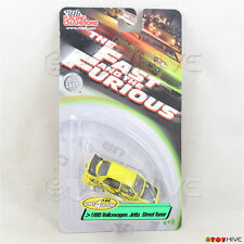 Fast and Furious 1:64 yellow 1995 Volkswagen Jetta Street Tuner series 4 RC ERTL