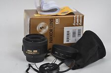 MINT- BOXED USA NIKON NIKKOR AF-S DX SWM ASPHERICAL 35mm f1.8G LENS, BONUS UV