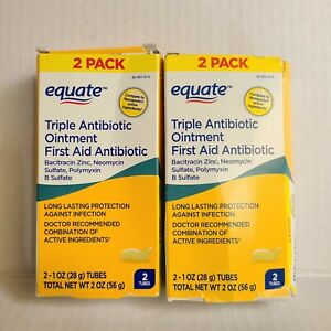 Equate Triple Antibiotic First Aid Ointment 1 oz each (4 PACK)