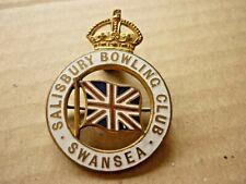 More details for vintage enamel badge salisbury bowling club swansea wales union flag j.r. gaunt