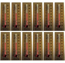 12 PACK RITE FARM PRODUCTS GLASS TEMPERATURE THERMOMETER EGG INCUBATORS CHICKENS