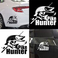 ITS- Pike Hunter Fish Car Vehicle Body Window Sticker Reflective PET Decal Decor